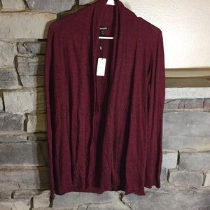 Large Express Cardigan Red and Black NWT